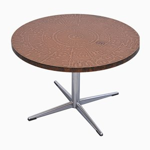 Table Basse en Cuivre et Chrome, années 60