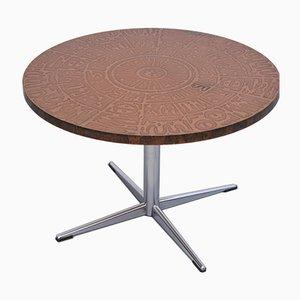 Tavolino da caffè in rame e metallo cromato, anni '60