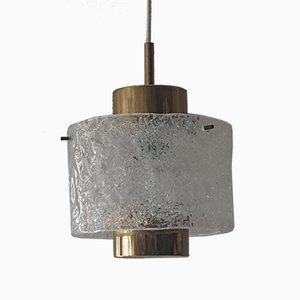 Lampada da soffitto in vetro di J. T. Kalmar per Kalmar Franken KG, anni '70