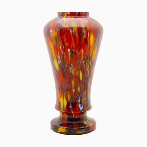 Balustervase aus Glas von Kralik Glassworks, 1930er