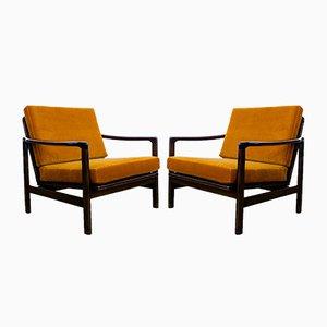 Fauteuils B-7752 par Zenon Bączyk, années 60, Set de 2