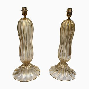 Murano Glass Table Lamps, 1980s, Set of 2