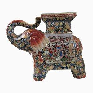 Elefante in stile Longwy in ceramica, Cina, anni '60