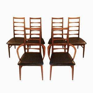 Mid-Century Esszimmerstühle von Niels Koefoed für Koefoeds Møbelfabrik, 6er Set