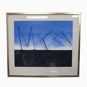 Lithographie Large par Per Olof Ultvedt pour Per Olof Ultvedt, années 80