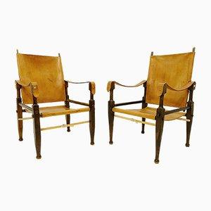 Vintage Safari Stühle von Wilhelm Kienzle für Wohnbedarf, 1950er, 2er Set