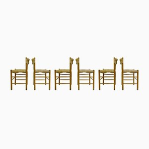 Vintage Dordogne Sentou Esszimmerstühle, 6er Set