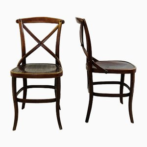 Vintage Modell 91 Esszimmerstühle von Jacob & Josef Kohn, 2er Set