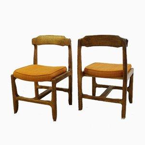 Chaises de Salle à Manger Your Home Vintage en Chêne par Guillerme & Chambron, Set de 4