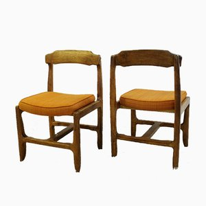 Vintage Your Home Oak Dining Chairs by Guillerme & Chambron, Set of 4