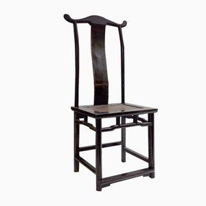 Chinesischer Vintage Stuhl mit lackiertem Gestell