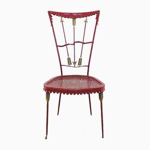 Vintage Beistellstuhl mit Dekoration in Pfeil-Motiv von Tomaso Buzzi