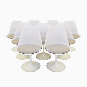 Vintage White Tulip Club Chair