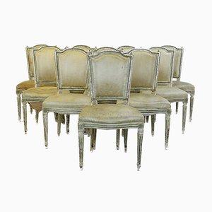 Chaises de Salle à Manger Vintage, Set de 10