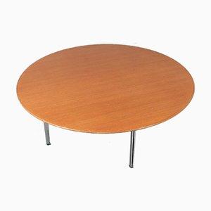 Amerikanischer Parallel Bar Couchtisch mit Tischplatte aus Nussholz von Florence Knoll Bassett für Knoll Inc./Knoll International, 1950er
