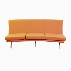 Vintage Orange Sofa by Marco Zanuso