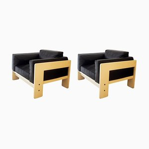 Vintage Bastiano Armchairs by Tobia Scarpa for Gavina, Set of 2