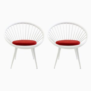 Vintage Circle Chairs von Yngve Ekstrom, 2er Set