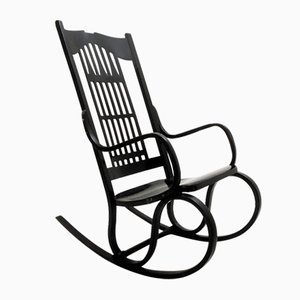 Vintage Austrian Model 824 Rocking Chair by Gustav Siegel