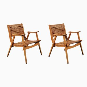 German Beech Plywood Lounge Chairs by Erich Dieckmann for Gelanka, 1930s, Set of 2