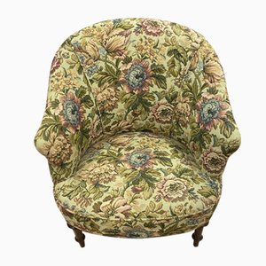 Antique Floral Lounge Chair