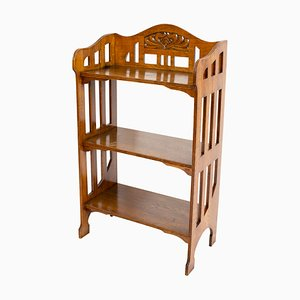 Antique Art Nouveau Oak Shelf