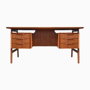 FM60 Schreibtisch aus Teak von Kai Kristiansen für Feldballes Møbelfabrik, 1960er
