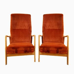 Mid-Century Armchairs by Gio Ponti for Cassina, 1960s, Set of 2