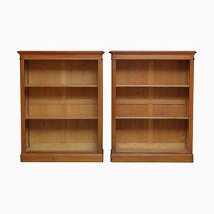 Antique Oak Bookcases, Set of 2