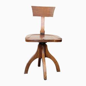 Industrieller Schreibtischstuhl aus Holz, 1930er