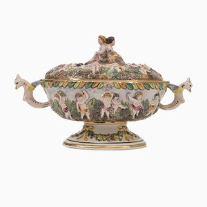 Italian Porcelain Serving Cup from Capodimonte, 1950s