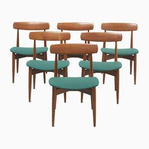 Sedie da pranzo di H.W. Klein per Bramin, anni '60, set di 6