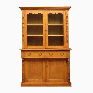 Antique Victorian Pine Kitchen Cabinet