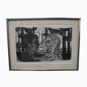 Print by Edward Munch, 1970s