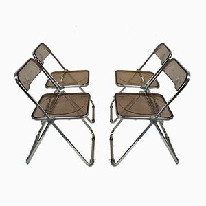 Folding Chairs by Giancarlo Piretti for Castelli / Anonima Castelli, 1970s, Set of 4