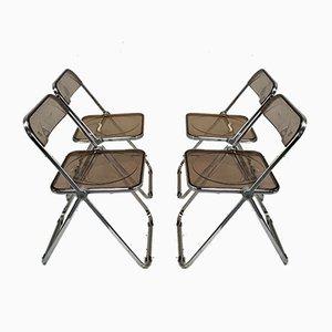 Folding Chairs by Giancarlo Piretti for Castelli / Anonima Castelli, 1970s, Set of 4