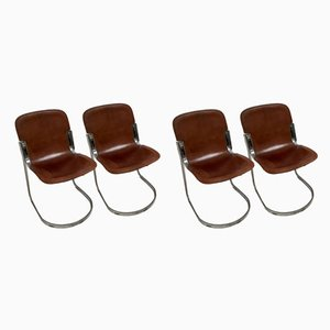 Dining Chairs by Willy Rizzo for Cidue, 1970s, Set of 4