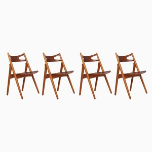 CH-29 Dining Chairs by Hans J. Wegner for Carl Hansen & Søn, 1950s, Set of 4
