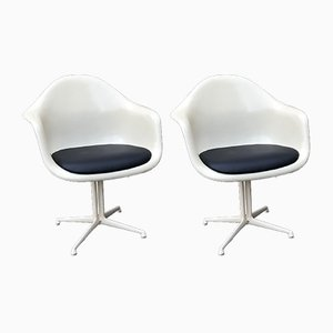 Fiberglass DAL La Fonda Armchairs by Charles & Ray Eames for Herman Miller, 1970s, Set of 2