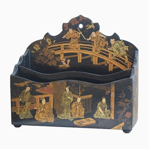 Antique Chinese Black Lacquer Rack