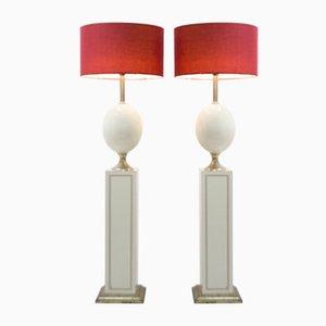 Lámparas de mesa Barbier vintage. Juego de 2