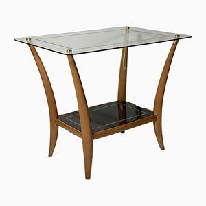 Table Basse Mid-Century en Verre, Italie, années 40