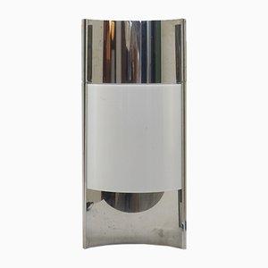 Lámpara de mesa vintage de cromo y plexiglás