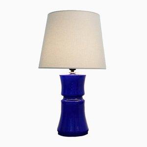 Kobaltblaue italienische Vintage Tischlampe aus Muranoglas