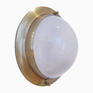 Mid-Century Italian Brass Ceiling Lamp
