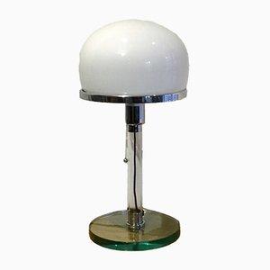 Lampada da tavolo vintage di Wilhelm Wagenfeld per Metalarte, anni '70