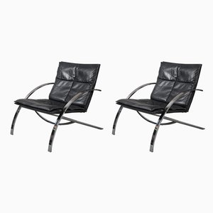 Swiss Arco Lounge Chairs by Paul Tuttle for Strässle, 1976, Set of 2
