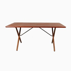 Danish Teak Dining Table by Hans J. Wegner for Andreas Tuck, 1950s