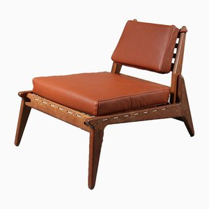 Swedish Hunting Lounge Chair by Uno & Östen Kristiansson, 1950s