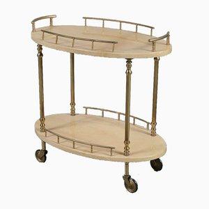 Italian Brass Bar Cart by Aldo Tura, 1950s